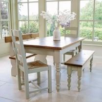 Buy St Ives Round Pedestal Dining Table Painted Oak