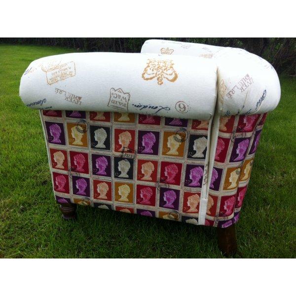 Antique Drop Arm Sofa: Antique Edwardian Drop Arm Chesterfield Sofa