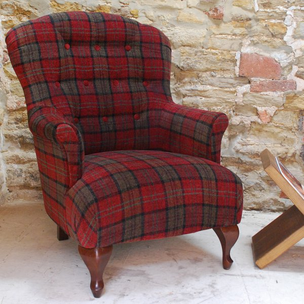 Tartan Armchair Check Fabric Armchair Curiosity Interiors