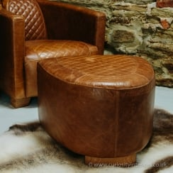 Austin Leather Footstool