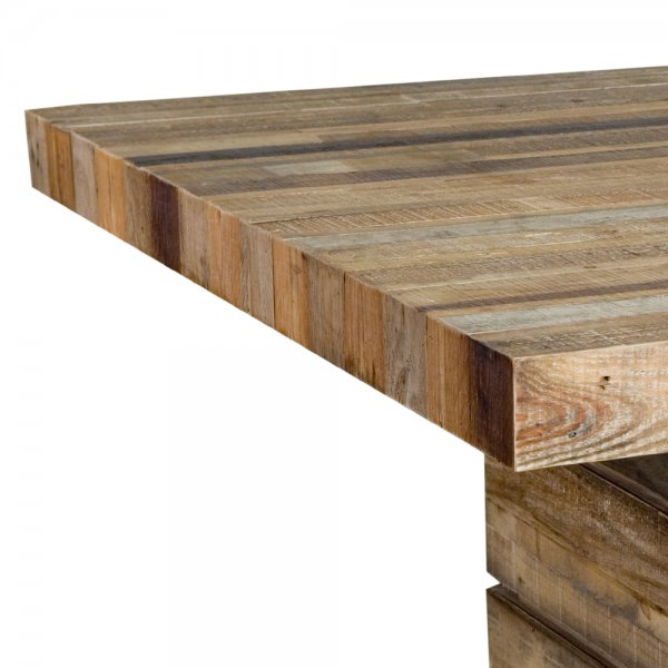 Buy Tahoe Square Dining Table Chunky Rustic Plank Wood Tables