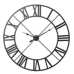 Black Large Iron Wall Clock