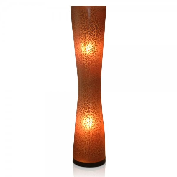 Brown Crackle Floor Lamp | Contemporary Lighting & Accessories