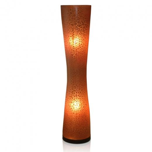 Brown Crackle Floor Lamp | Contemporary Lighting & Accessories