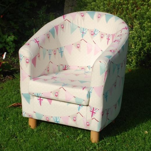 bunting pink kids tub chair children s furniture
