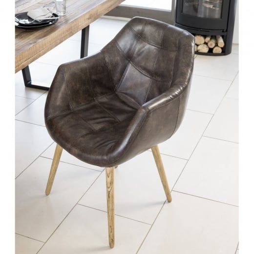 Dining Chair Leather Chair Curiosity Interiors