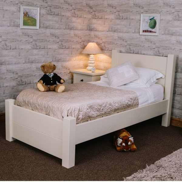 Buy Rustic Chunky Plank Painted Bed Bespoke Wood Beds Uk Made