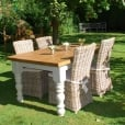 Chunky Hardwick & Rattan Chairs Dining Package