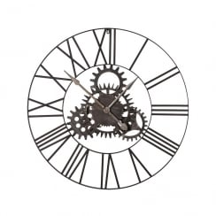 Cogs Metal Frame Wall Clock