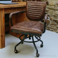 Colonial Leather Office Chair