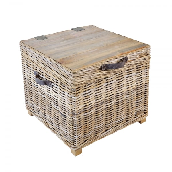 Rattan Storage Trunk Side Table With Storage Curiosity Interiors