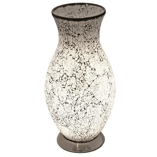 Crackle Glass Vase Lamp Mosaic Table Lamp