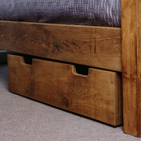 Plank Under Bed Drawers Chunky Wooden, Under Bed Storage Drawers On Wheels