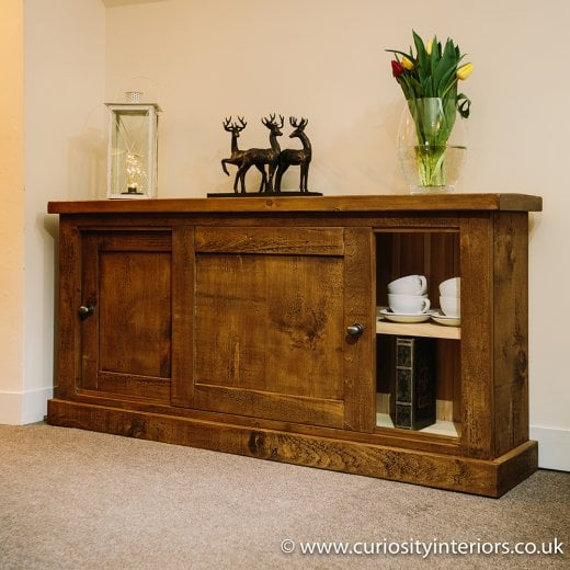 Curiosity Interiors Devonshire Plank Sliding Door Sideboard