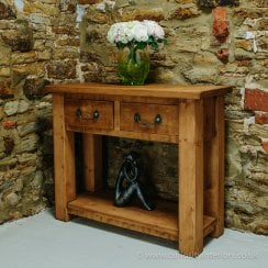 Haddon Plank Compact Console Table