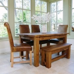 Haddon Plank Dining Table