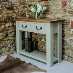 Haddon Plank Painted Compact Console Table