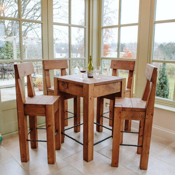 97598ea341ac Plank Bar Table | Solid Wood Bar Table | Curiosity Interiors