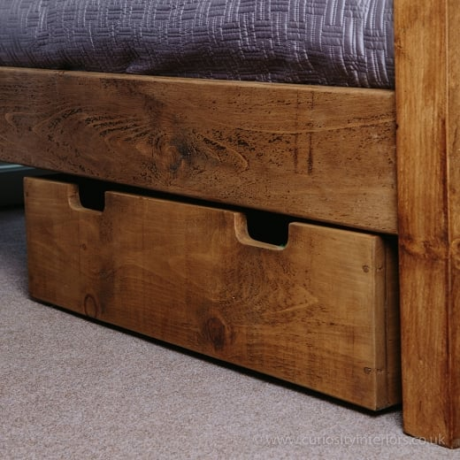 Curiosity Interiors Plank Underbed Storage Drawer