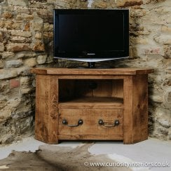 best sneakers 3ec21 d22d7 Plank TV Stand | Rustic Wooden Corner TV Unit | Curiosity ...