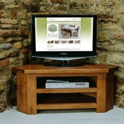 Sherwood Plank Low Corner TV Unit