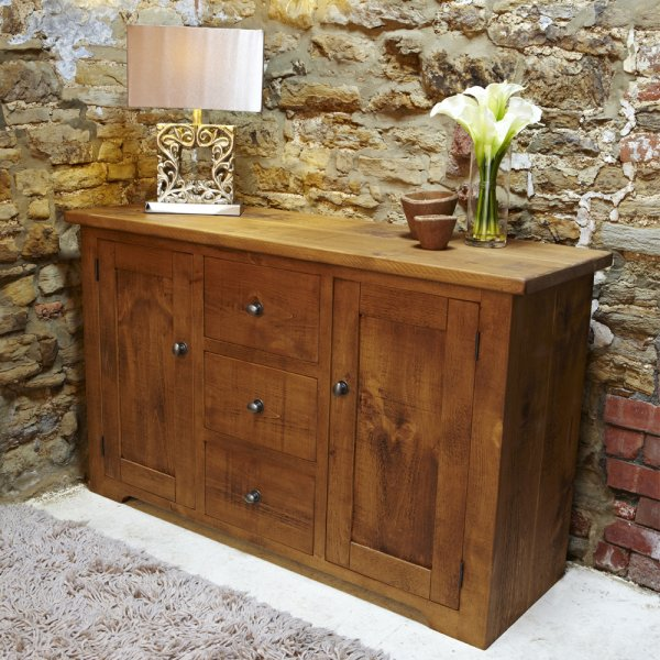 Rustic Large Sideboard Wooden Hall Table Curiosity Interiors