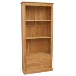 Druid Oak 2 Drawer Tall Bookcase
