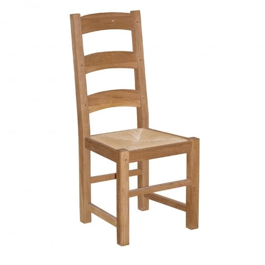 Druid Oak Dining Chair with Rush Seat