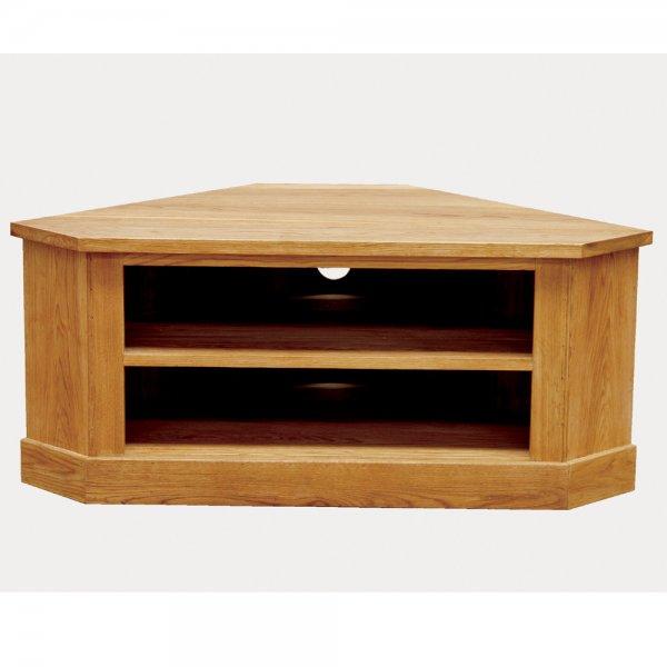 official photos 7c0a1 63c04 Druid Oak Low Corner TV Cabinet