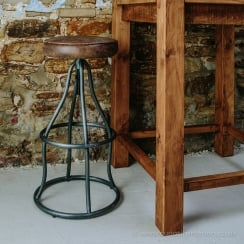 Durham Leather Bar Stool