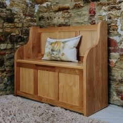 Eastwood Oak Monks Bench