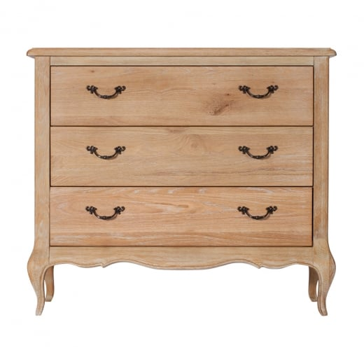 Elegance Oak 3 Drawer Chest