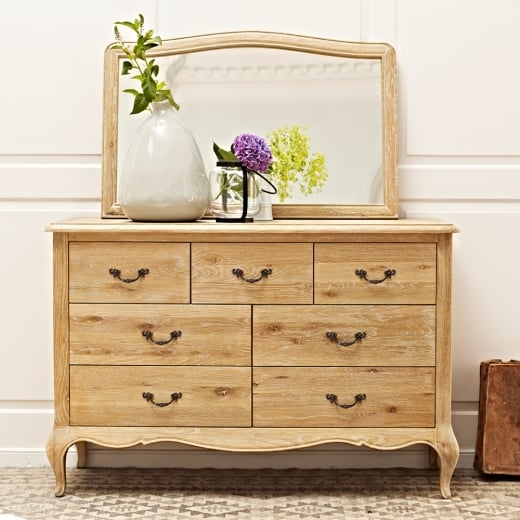 Elegance Oak 7 Drawer Wide Chest