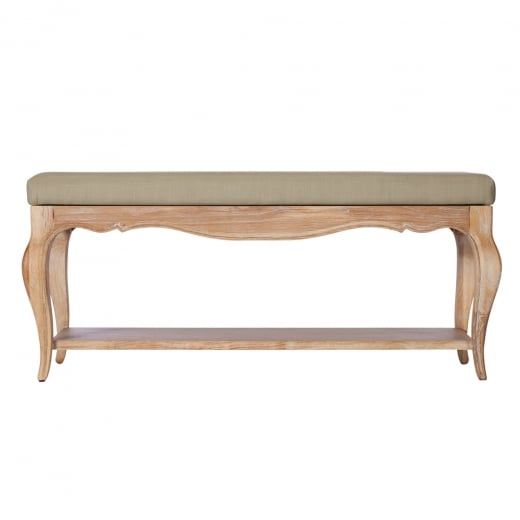 Elegance Oak Upholstered Bench