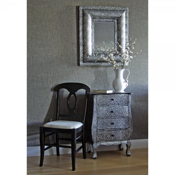 Chest Of Drawers Embossed Drawers Rustic Silver Drawers