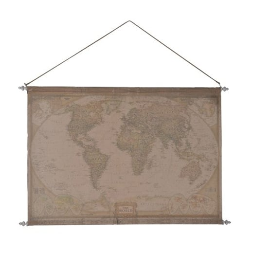 Fabric world map wall hanging map curiosity interiors fabric world map gumiabroncs Images