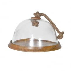 Glass Cloche Cake Stand