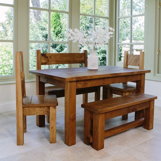 Haddon 5ft Plank Dining Table Package