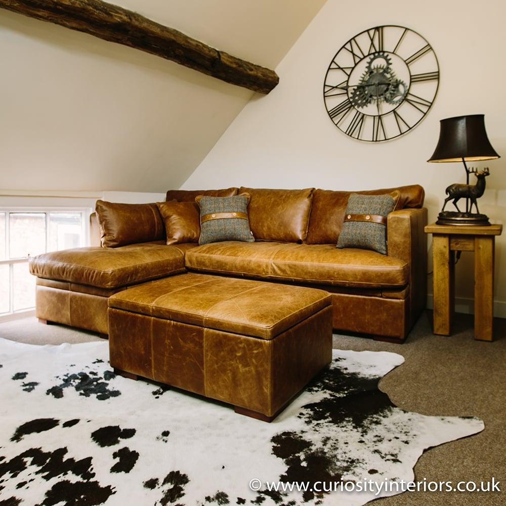 - Leather Corner Sofa Vintage Leather Sofa Curiosity Interiors