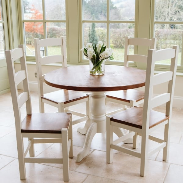 Hardwick 3ft 6 Round Rustic Dining Table From Curiosity Interiors