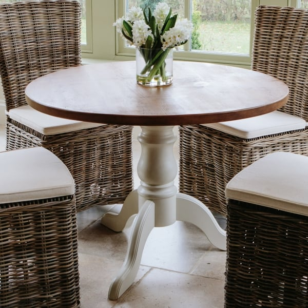 Hardwick 3ft 6 round rustic dining table from curiosity for 6 foot round dining table