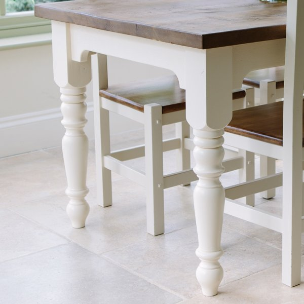 Buy Rustic Painted Dining Tables Chunky Plank Dining Table