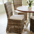 Hardwick Round Dining Table & Rattan Chair Package