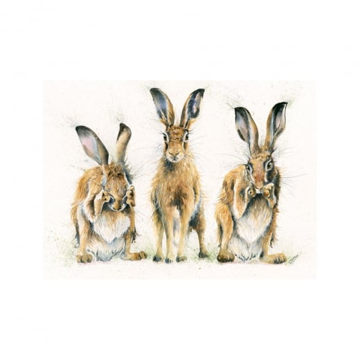 Hare No Evil Framed Limited Edition Print by Kay Johns