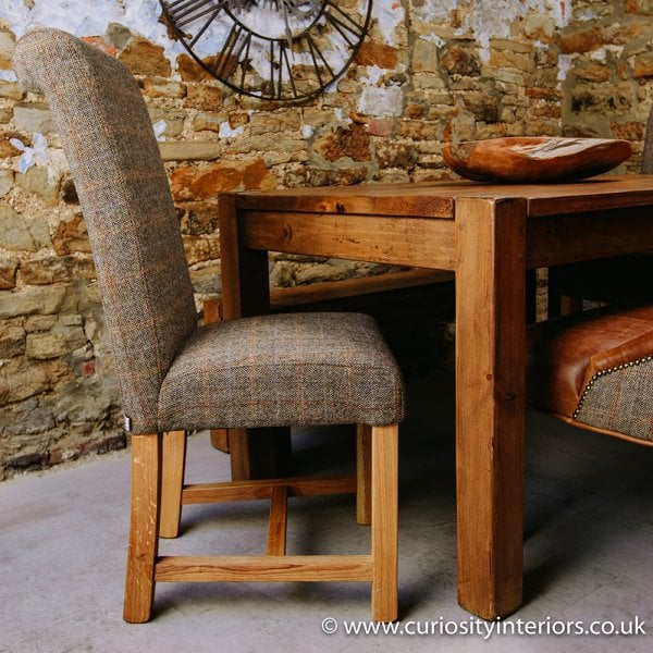Fantastic Harris Tweed Rollback Dining Chair Lamtechconsult Wood Chair Design Ideas Lamtechconsultcom