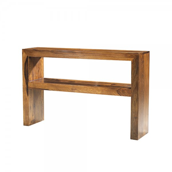 Rustic modern console table sheesham wood bedroon and living for Dining hall furniture