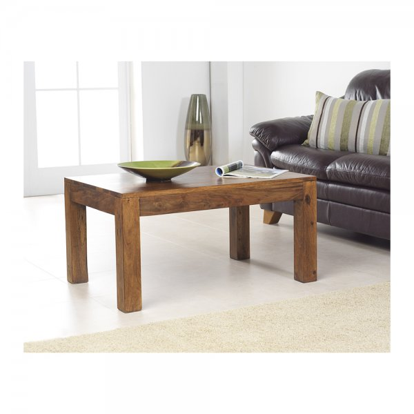 Rustic Modern Small Coffee Table Sheesham Wood Bedroon And Living