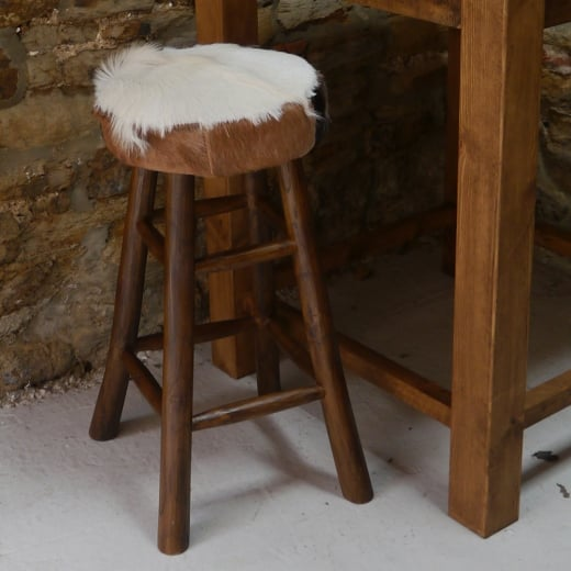Hide Bar Stool Goat Fur Bar Stool Hide Stool