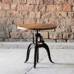 Hyatt Adjustable Crank Bar Table