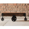Hyatt Industrial Coffee Table Cart